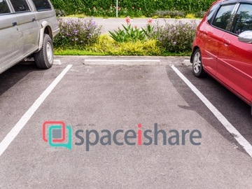 Car parking space in downtown